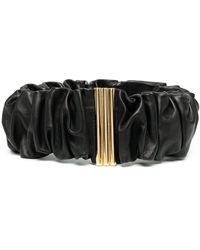 Jil Sander Gathered-detail Belt - Black