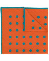 Holland & Holland Dotted Scarf - Orange