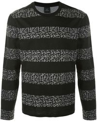 Kent & Curwen ストライプ ロングtシャツ - ブラック
