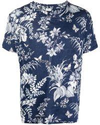 Etro フローラル Tシャツ - ブルー