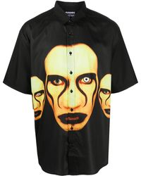 Pleasures Marylin Manson シャツ - ブラック