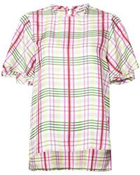 Prabal Gurung - Plaid Print Blouse - Lyst