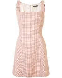 ALEXACHUNG チェック バックル ドレス - ピンク