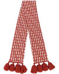 Bode ロゴ タッセル スカーフ - レッド