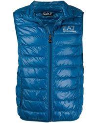 EA7 ロゴ パデッドベスト - ブルー