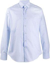 Ferragamo ペイズリーシャツ - ブルー