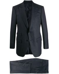 Tom Ford Pinstriped Two-piece Suit - Blauw