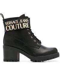Versace Jeans Ботильоны С Логотипом - Черный