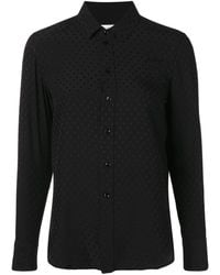 Saint Laurent Paris Collar Pineapple Shirt - Zwart
