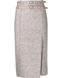 Dior 2000s ペンシルスカート - グレー