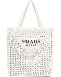 Prada Handtasche mit Logo - Weiß