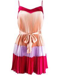Twin Set Короткое Плиссированное Платье - Розовый