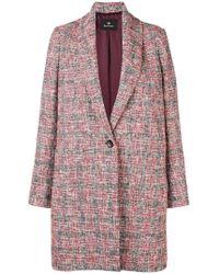 PS by Paul Smith - Oversized Multi-yarn Coat - Lyst