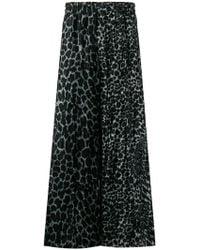 Yohji Yamamoto - Leopard-print Wide-leg Trousers - Lyst