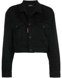 DSquared² - Be Nice Cropped Denim Jacket - Lyst