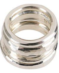 4 hammered ring set - Metallic Werkstatt M mGA6SN