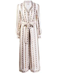 Temperley London Spirit printed jumpsuit - Blanc