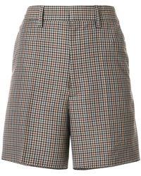 Maison Margiela - High-waisted Plaid Shorts - Lyst