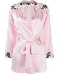 Gilda & Pearl Robe de chambre à fleurs brodées - Rose