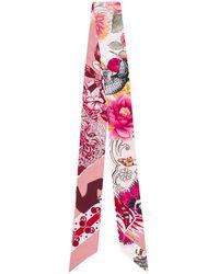 Ferragamo Sjaal Met Bloemenprint - Roze