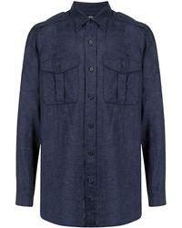 MAN ON THE BOON. Camicia - Blu