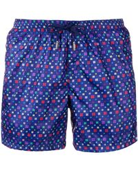 Fefe - Hashtag Print Swim Shorts - Lyst