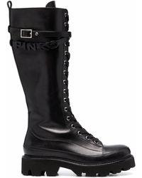 Pinko ラグソール ブーツ - ブラック