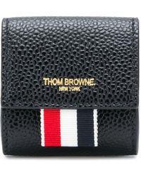 Thom Browne Кошелек Для Монет С Логотипом - Черный