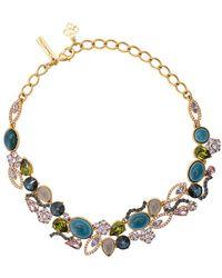 Oscar de la Renta Crystal And Resin Necklace - Metallic