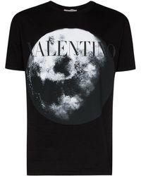 Valentino T-shirt Met Logo - Zwart