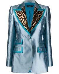 Dolce & Gabbana - Blazer à motif léopard - Lyst