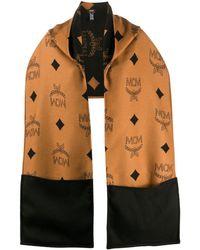 MCM ロゴ スカーフ - ブラウン