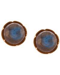 Irene Neuwirth 18kt Rose Gold Labradorite Stud Earrings - Blue