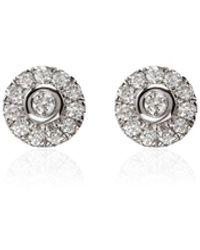 Dana Rebecca Lauren Joy 14k White-gold Diamond Stud Earrings - Metallic