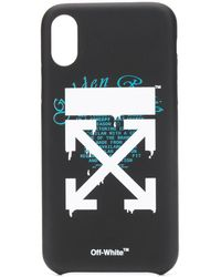 Off-White c/o Virgil Abloh Funda para iPhone XS con motivo Dripping Arrows - Negro