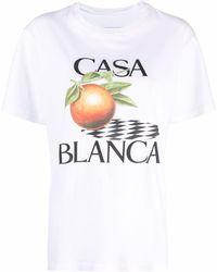 CASABLANCA ロゴ Tシャツ - ホワイト
