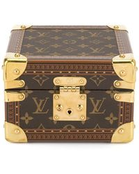 Louis Vuitton Pre-owned Logo Print Watch Case - Brown