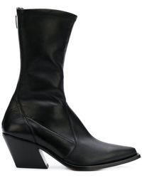 32a4b4838fda Lyst - Givenchy Kalli Suede And Leather High-heel Ankle Boots in Black