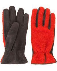 Dell'Oglio Paneled Gloves - Красный