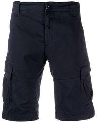 C P Company Flap Pock Cargo Shorts - Blue