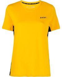DKNY ロゴパネル Tシャツ - イエロー