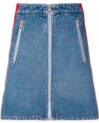 KENZO ストライプ ミニスカート - ブルー