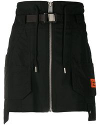 Heron Preston カーゴ ミニスカート - ブラック