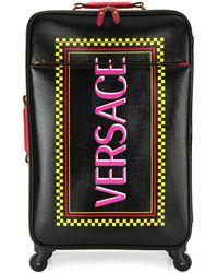 Versace Logo Printed Suitcase - Black
