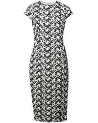 Lela Rose - Vestido midi con diseño bordado - Lyst