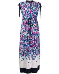Karl Lagerfeld Платье Макси С Эффектом Деграде - Синий