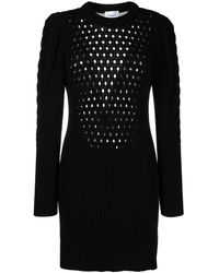 Dondup Cable Knit Mini Dress - Black