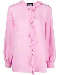 Boutique Moschino Ruffle Trim Blouse - Pink