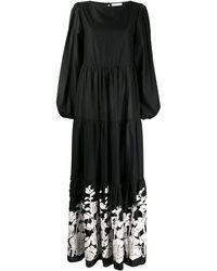 Black Coral Платье Макси Betty С Цветочным Принтом - Черный
