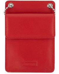 Supreme Leather Id Holder - Red